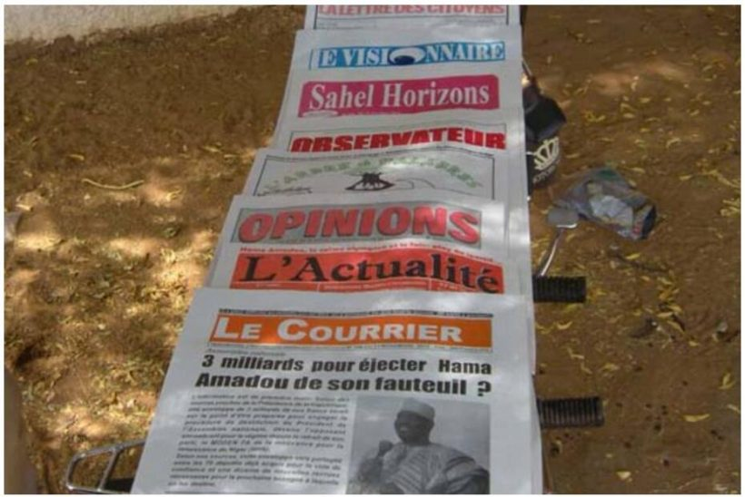 A selection of Nigerien newspapers