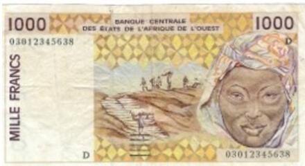 Niger 1000 FCFA ticket