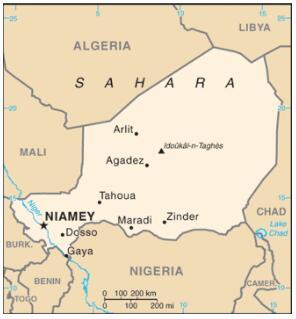 Republic of Niger Map