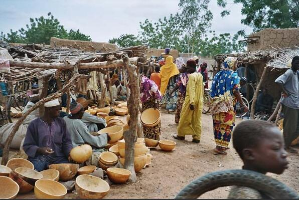 Typical market in the agropastoral zone Niger